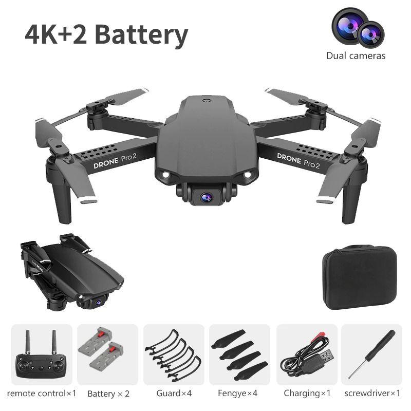 Drone cámara dual 4k, WiFi, FPV E99 PRO2 NYR