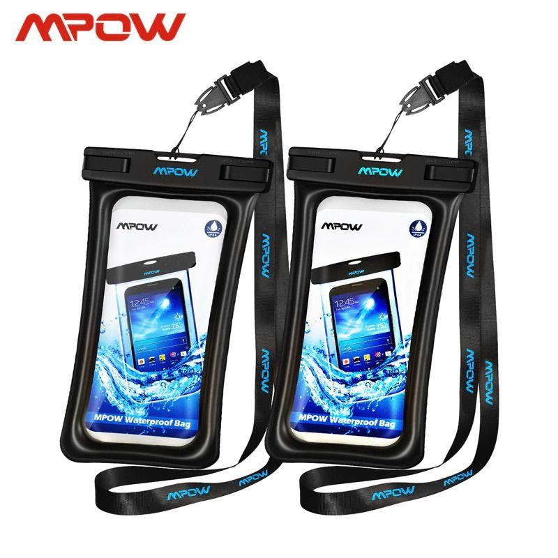 Fundas impermeables IPX8 universales para celulares de hasta 6.5 pulgadas Mpow