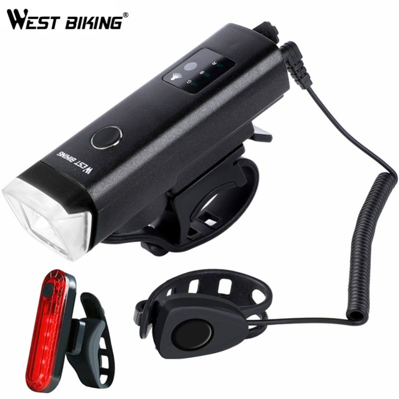 Luces para bicicleta recargables USB 350 Lumens  WEST BIKING