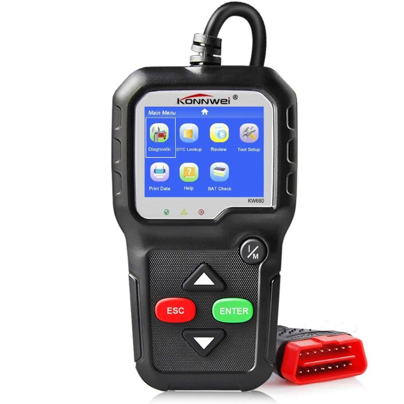 Scanner de diagnóstico para auto OBDII Konnwei KW680